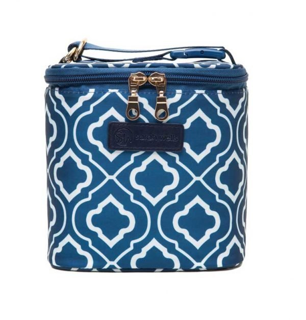 Sarah Wells Cold Gold Cooler Bag - Navy
