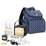Medela Pump In Style Advanced Starter Set Mama Bundle with Madison Backpack